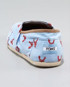 TOMS Lobster-Print Slip-On - Neiman Marcus  I NEED THESE NOW.