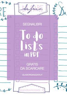 Scarica i segnalibri con le todo lists free