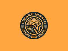 Circular badge as part of the rebrand of Southern California based brewery Cismontane.  Read more about it in my previous post...  Alt and previous attached.