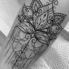 Forarm Tattoos, Wrist Tattoos, New Tattoos, Body Art Tattoos, Tattoo Drawings, Tatoos, Mandala Tattoo Design, Henna Tattoo Designs, Female Lion Tattoo