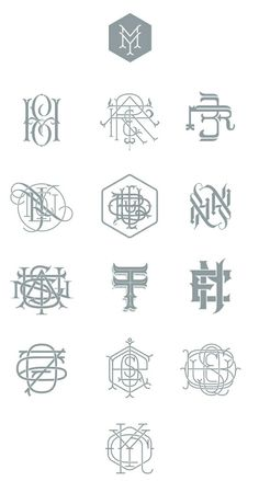 Types & Monograms by Jorge Mercado