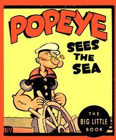 Popeye Sees the Sea, Whitman, Big Little Book