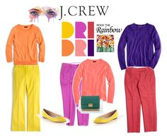 """""""J. Crew Rock The Rainbow"""" by lolly-p ❤ liked on Polyvore featuring J.Crew"""