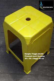 Selatan Jaya distributor barang plastik furnitur Surabaya Indonesia: Kursi plastik bangku tinggi promosi Neoplas kuning...