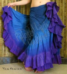 25 Yard Skirt Triple Dyed Petticoat Skirt - Painted Lady Clothiers