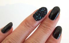 Ciate Black Pearl Caviare manicure