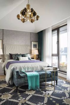 While glittering living rooms and blinding entryways are often the rule, Luxury Master Bedroom interior design is more restrained. Guest Bedrooms, Bedroom Sets, Bedroom Decor, Design Bedroom, Master Bedroom Interior, Small Master Bedroom, Master Bedrooms, Modern Bedroom Lighting, Luxurious Bedrooms