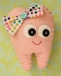 Tooth Fairy Pillow by thecupcakery on Etsy