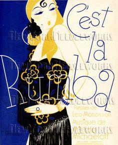 C'est la Rumba Dance Cross Stitch Art Deco por NewYorkNeedleworks