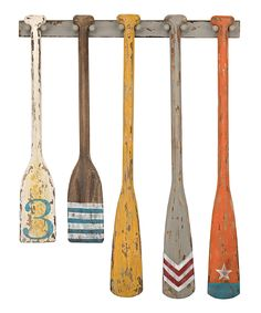 Look at this Hand-Painted Oars Wall Décor on #zulily today!