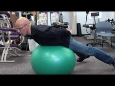 ▶ Lower Back Pain / Herniated Disc / Pinched Nerve Strengthening with Fitness Ball / Dr. Mandell - YouTube - For pain relief I exercise and use the lotion found via this site: http://PainKickers.com/back-injuries/