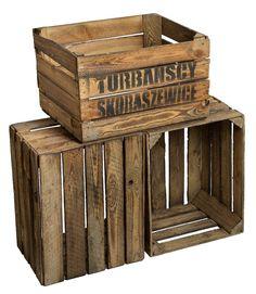3 x Solido geflammte Cassetta mele  TS  forziere in legno Obstkisten di vino