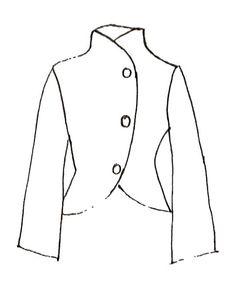 Cartamodelli maglieria - CARTAMODELLO: Giacca con collo alto - un prodotto unico di Fashion-Atelier su DaWanda