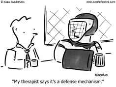 Freudian defense mechanisms: The good, the bad, and the ugly Mental Health Humor, Therapy Humor, Daily Jokes, Psychology Student, Ego, Postpartum Depression, Marriage And Family, Bipolar Disorder, Phobias