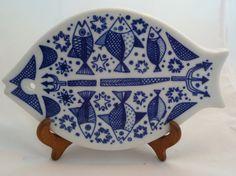 Vintage Norway porcelain fish tray  plaque Porsgrund