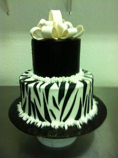#149 2 tier Zebra cake at delriocakes.biz