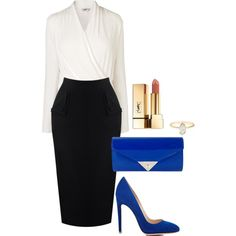 Untitled #440 by spectre11 on Polyvore featuring moda, L.K.Bennett, Gianvito Rossi, JNB and Yves Saint Laurent