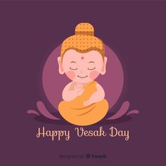 More than 3 millions free vectors, PSD, photos and free icons. Exclusive freebies and all graphic resources that you need for your projects Baby Buddha, Little Buddha, Buddha Doodle, Buddha Art, Graphic Design Templates, Modern Graphic Design, Kids Vector, Vector Free, Wesak Day