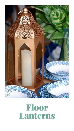 Dress up any small space with our versatile Moroccan Floor Lanterns! Each order comes with a set of two floor lanterns, with removable colored acrylic windows. Tap to shop the look now and order in time for Eid! #daysofeid