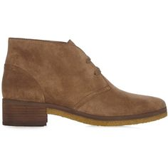 See By Chloé Jona suede ankle boots ($180) ❤ liked on Polyvore featuring shoes, boots, ankle booties, light tan, suede ankle booties, tan suede boots, lace up boots, lace up bootie and lace up ankle boots