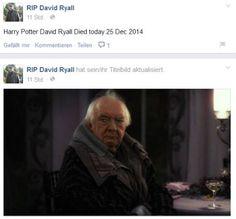 """Harry Potter""-Zauberer David Ryall gestorben"
