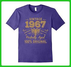 Mens Vintage Perfectly Aged 1967 Birthday Gift For 50 Years Old 2XL Purple - Birthday shirts (*Amazon Partner-Link)