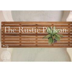 Bathtub Caddy -Bathtub Tray -Rustic Tub Tray -Bath Bathroom Bath Tray... ($166) ❤ liked on Polyvore featuring home, bed & bath, bath and bath accessories