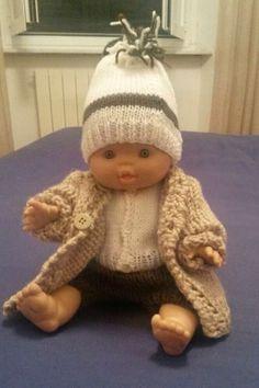Penso a Me: Completo pantaloni, golfino e cappottino per Simone (una bambola)