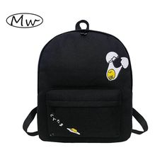 26.90$  Watch here - http://vijww.justgood.pw/vig/item.php?t=3sm7wok19365 - Style Canvas Women Backpack Egg Shell Printing Backpack High School Students Sho 26.90$