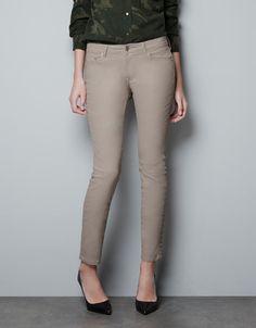 COATED TROUSERS - Jeans - Woman - ZARA United Kingdom