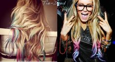 Lauren Conrad tie-dyed her hair..like it..probably wouldnt do it, but like it :)