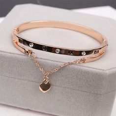 Pandora Jewelry OFF! Luxury Famous Pandora Jewelry Rose Gold Stainless Steel Bracelets Bangles Female Heart Forever Love Charm Bracelet For Women Diamond Bracelets, Heart Bracelet, Love Bracelets, Ankle Bracelets, Sterling Silver Bracelets, Fashion Bracelets, Fashion Jewelry, Heart Jewelry, Women Jewelry