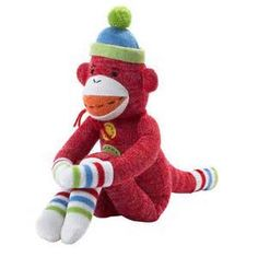 Thanks for writing about Rufus the red sock monkey and the Monkeez Makes a Difference program HaveSippy! Sock Monkey Baby, Monkey 3, Sock Monster, Pack N Play, Popular Toys, Sock Animals, Cute Socks, Colorful Socks, Plushies