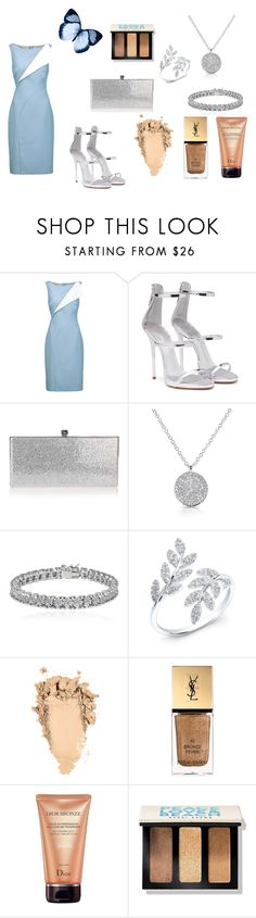 """""""Butterfly Look"""" by rea-godo ❤ liked on Polyvore featuring Oscar de la Renta, Giuseppe Zanotti, Jimmy Choo, Anne Sisteron, Apples & Figs, Yves Saint Laurent, Christian Dior and Bobbi Brown Cosmetics"""