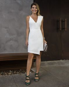 15 Super Sexy Business-Outfits Für Mädchen - Style X Elegant Dresses, Beautiful Dresses, Nice Dresses, Short Dresses, Little White Dresses, White Outfits, Dress Skirt, The Dress, Business Outfits