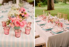 Shabby chic table setting - how very French! - M