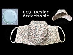 New Design - Breathable DIY Mask | The Mask does not touch your mouth and nose, easier to breathe - YouTube Easy Homemade Face Masks, Easy Face Masks, Diy Face Mask, Sewing Hacks, Sewing Tutorials, Mascarilla Diy, Sewing Projects For Beginners, Sewing Techniques, Sewing Patterns Free