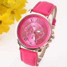 NEW Best Quality Geneva Platinum Watch Women PU Leather wristwatch casual dress watch reloj ladies gold gift Fashion Roman