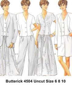 Butterick+Sewing+Pattern+4504+Misses+Summer+Separates+Uncut+Sizes+6+8+10