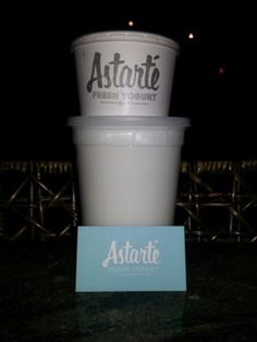 Astarte Yogurt in the PATH in downtown Toronto serves up 6 times strained local yoghurt with great granola and cool toppings.