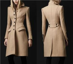 Love Beckett's coat from last week's Castle (After Hours). Unfortunately it is apparently: Crêpe Wool Tailored Coat by Burberry – $2,995