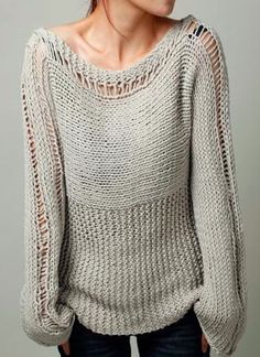 Warm knit oversized sweater, throw over a pair of the dark embellished crochet denim or a simply pair of ankle bitter skinnies.