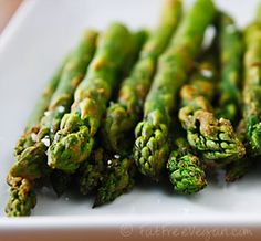 Wasabi-Roasted Asparagus ---one of my favorite veggie recipies - super fast and amazingly filling!