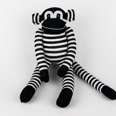 US $8.44 New in Toys & Hobbies, Stuffed Animals, Other Stuffed Animals Stuffed Animals, Baby Toys, Black Stripes, Tigger, Monkey, Traditional, Dolls, Handmade Gifts, Sock