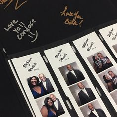 Photo Booth Album with Slip in sleeves. 40 pages. Just slip in your photo booth photos and have your guests sign. So easy! How To Make Photo, Memory Album, White Slip, Big Party, Free Black, Photo Booth, Your Photos, Party Favors, Photo Wall