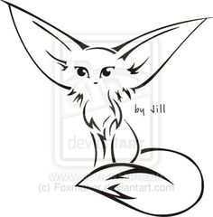 i want a fennec fox tattoo. this is a bit too tribal for my liking but something along these lines.