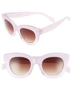 pink retro style sunglasses