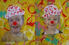 Nos petits transformés en clown ? Et pourquoi pas ! Projects For Kids, Diy For Kids, Art Projects, Crafts For Kids, Circus Crafts, Circus Art, Clown Cirque, Circus Theme Classroom, Carnival Themes