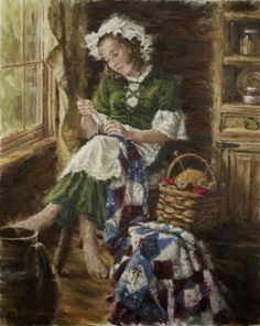 The Young Seamstress, Carla D'aguanno: Illustrations, Illustration Art, Rosa Parks, Love Painting, Western Art, Knitting Yarn, Female Art, Photo Art, Needlework