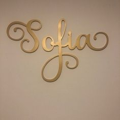 Items similar to Bedroom Girl Letters Wall Hanging - Custom Name Sign Gold - Bedroom Wall Art Nursery - Personalized Name Wall Sign on Etsy Wooden Name Signs, Baby Name Signs, Wooden Names, Baby Names, Name Wall Art, Name Wall Decals, Letter Wall, Nursery Name, Nursery Signs